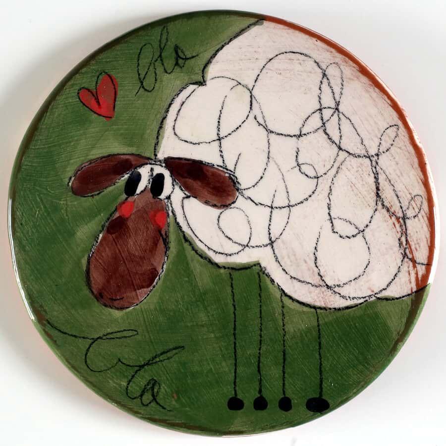 sous plat céramique mouton blabla