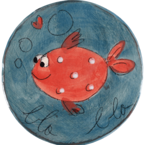 dessous plat céramique poisson Blabla