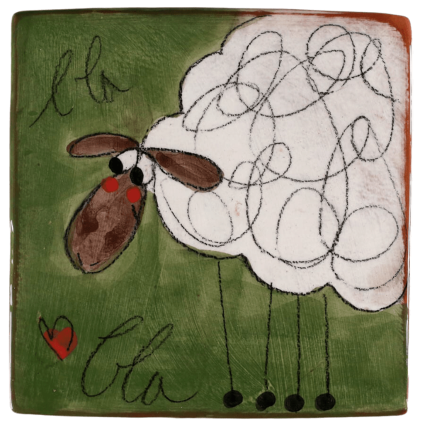 sous plat carré mouton blabla