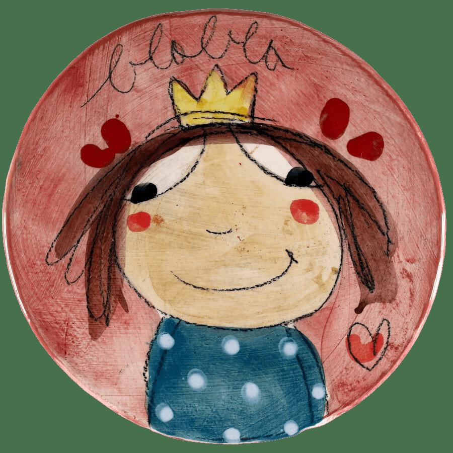 sous plat céramique princesse
