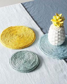 dessous de plat en tricotin diy
