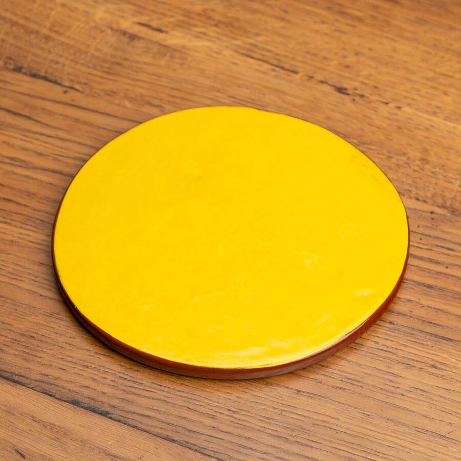 Dessous de plat jaune céramique nikolepirate