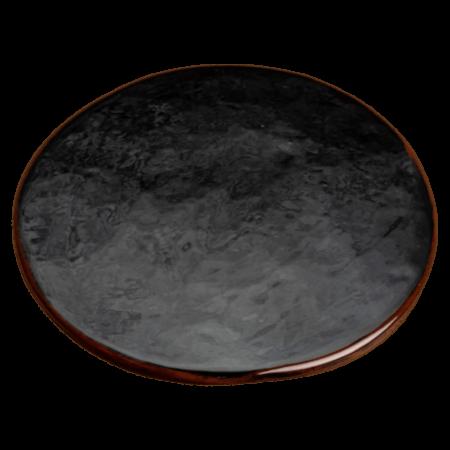dessous de plat noir en céramique nikolepirate
