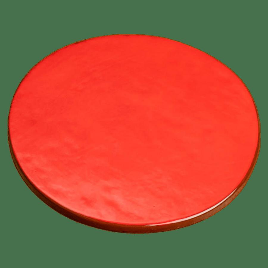 dessous de plat uni rouge en céramique Niko Le Pirate